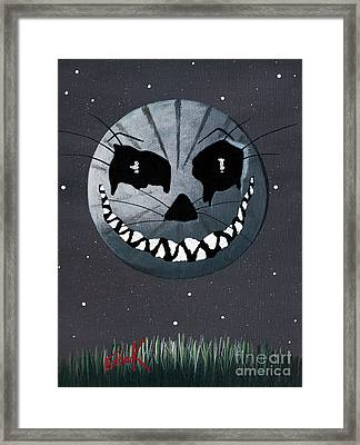 Alice In Wonderland Artwork - Cheshire Moon Framed Print by Shawna Erback