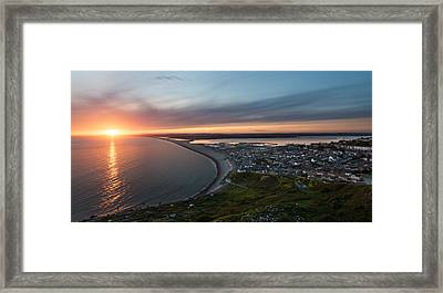 Chesil Beach Sunset  Framed Print by Ollie Taylor
