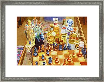 Chess And Tequila Framed Print by Mary Helmreich