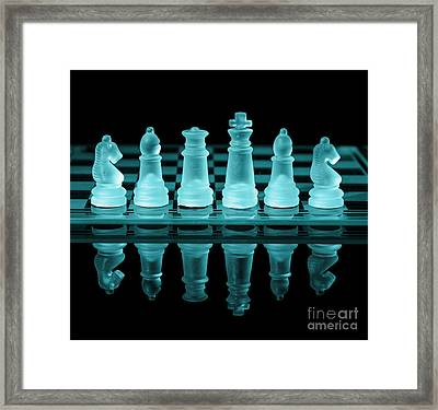 Chess Board Framed Print by Amanda Elwell