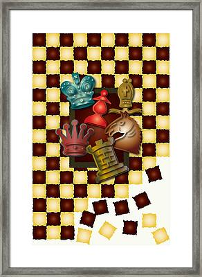 Chess Boxes Framed Print by Ym Chin