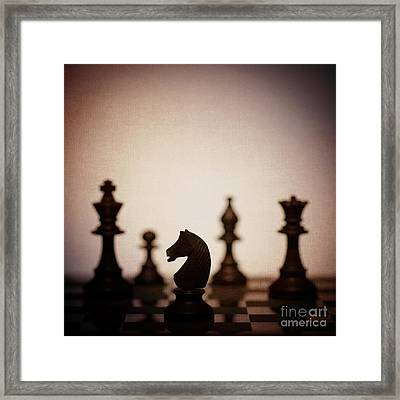 Chess Framed Print by Amanda Elwell