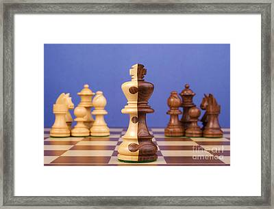 Chess Corporate Merger Framed Print