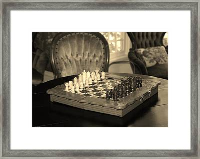 Framed Print featuring the photograph Chess Game by Cynthia Guinn