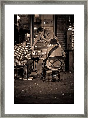 Framed Print featuring the photograph Chess Game by Erin Kohlenberg