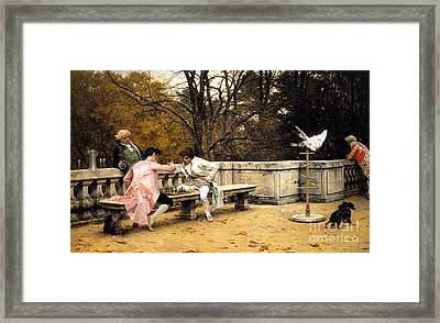 Chess In The Park Framed Print