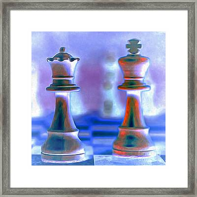 Chess King And Queen 20140918 Framed Print by Wingsdomain Art and Photography