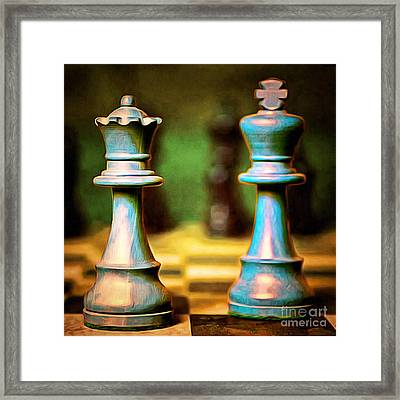 Chess King And Queen 20140918brunaille Framed Print by Wingsdomain Art and Photography