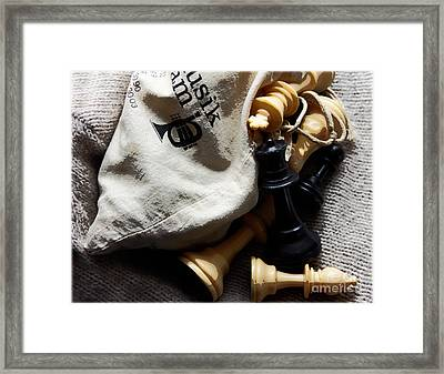 Chess Nuts  Framed Print by Steven Digman