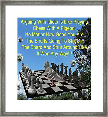 Chess Pigeon Framed Print by Eric Kempson