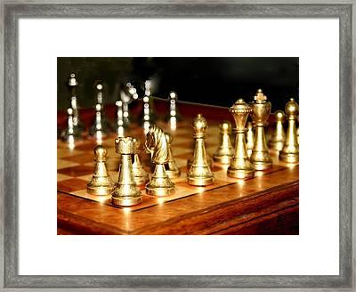 Chess Set  Framed Print by Diane Merkle