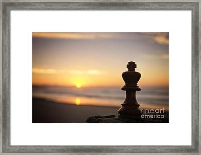 Chess Sunset Framed Print