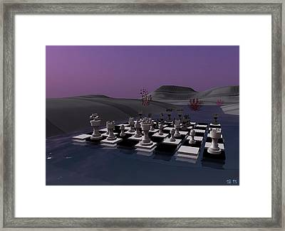 Framed Print featuring the digital art Chess by Susanne Baumann