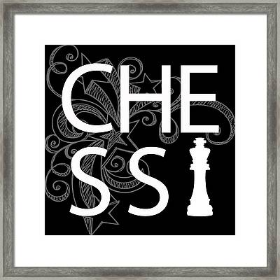 Chess The Game Of Kings Framed Print by Daniel Hagerman