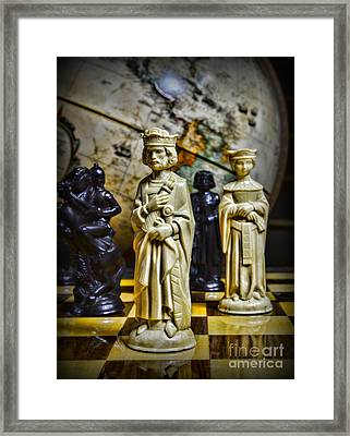 Chess - The Sacrifice Framed Print