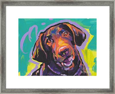 Chessie Smile Framed Print by Lea S