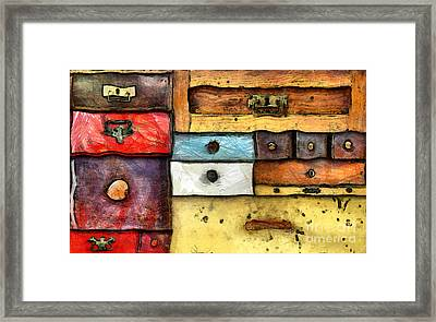 Chest Of Drawers Framed Print by Michal Boubin