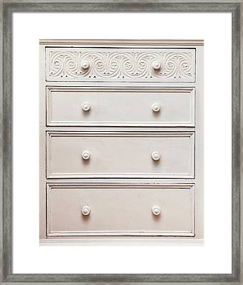 Chest Of Drawers Framed Print by Tom Gowanlock