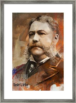 Chester A. Arthur Framed Print by Corporate Art Task Force