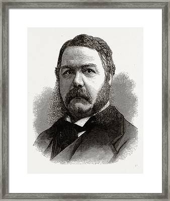 Chester A. Arthur, Vice-president-elect Of The United States Framed Print by Litz Collection