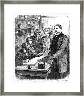 Chester Alan Arthur (1830-1886) Framed Print