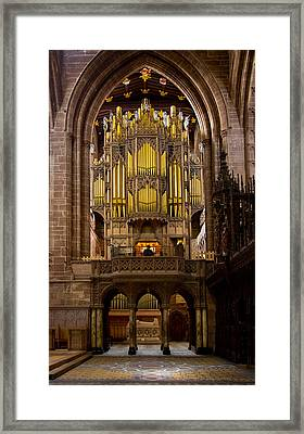 Chester Cathedral Organ Framed Print by Jenny Setchell