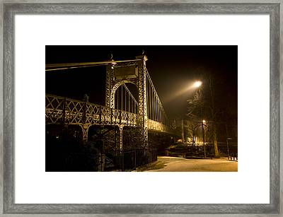 Chester Suspension Bridge Framed Print by Jeff Dalton