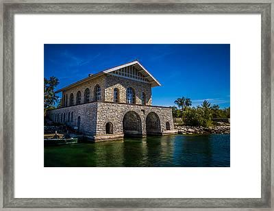Chester Thordarson Boathouse  Framed Print