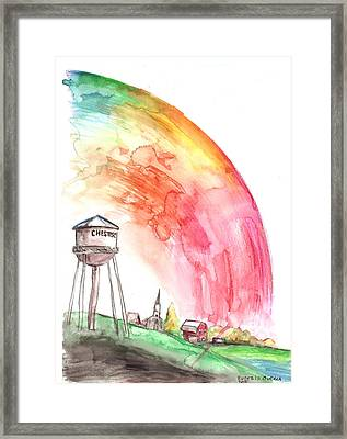 Chester's Mill Under The Dome Framed Print by Eusebio Guerra