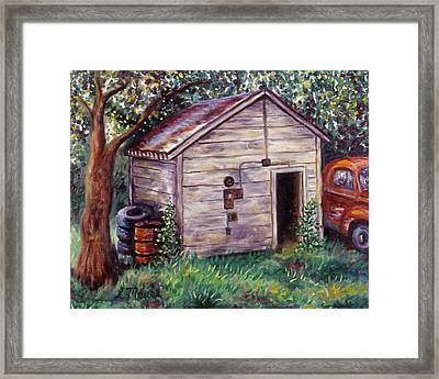 Chester's Treasures Framed Print by Linda Mears