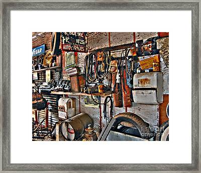 Framed Print featuring the photograph Chester's Wall by Lee Craig