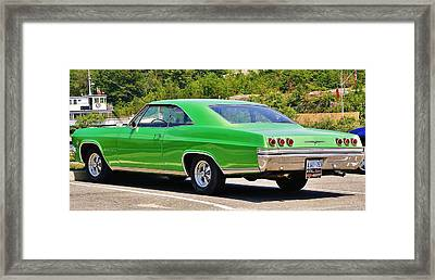 Framed Print featuring the photograph Chev Impala by Al Fritz