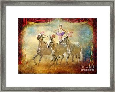 Cheval Danseur Framed Print by Trudi Simmonds