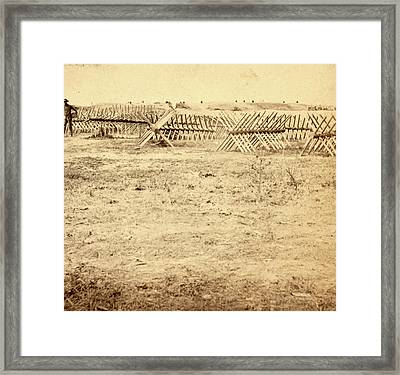 Chevaux-de-frise In Front Of The Rebel Works At Petersburgh Framed Print