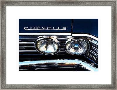 Chevelle Headlight Framed Print by Jerry Fornarotto