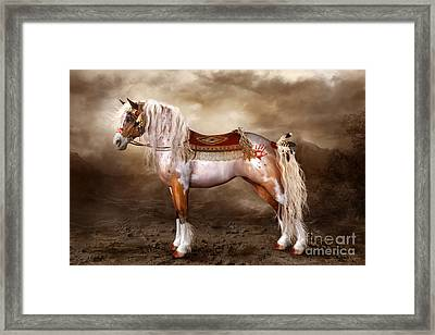 Cheveyo Native American Spirit Horse Framed Print by Shanina Conway