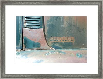 Chevorlet Fade Framed Print by Jame Hayes