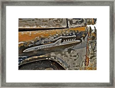 Chevrolet Apache Framed Print