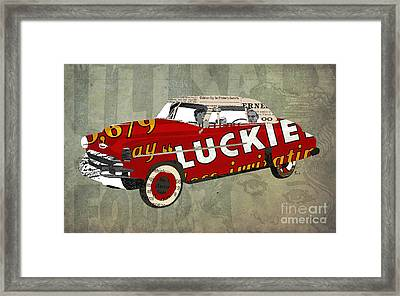 Chevrolet Bel Air 1950 And Luckies Ad Framed Print by Pablo Franchi