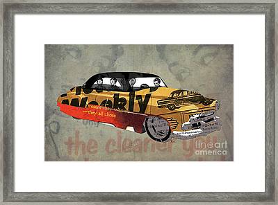 Chevrolet Belair 1951 And The Weekly News Framed Print by Pablo Franchi