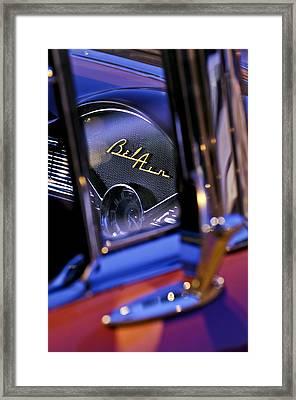 Chevrolet Belair Dash Board Emblem -754c Framed Print