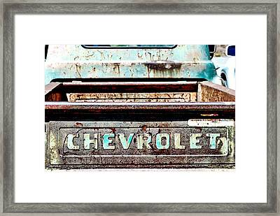 Chevrolet Framed Print by Bob Wall