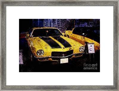 Framed Print featuring the photograph Chevrolet Camaro by Mohamed Elkhamisy
