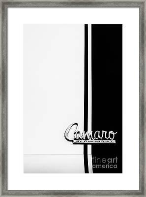 Chevrolet Camaro Monochrome Framed Print by Tim Gainey
