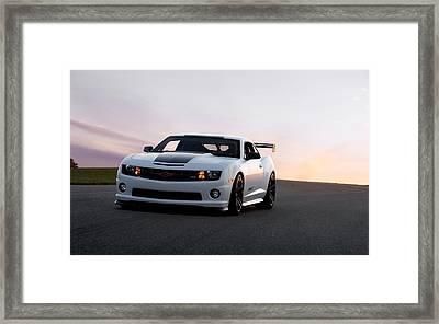 Chevrolet Camaro Ss Framed Print by Art Work