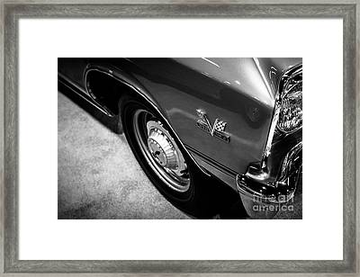 Chevrolet Chevelle 396 Black And White Picture Framed Print by Paul Velgos