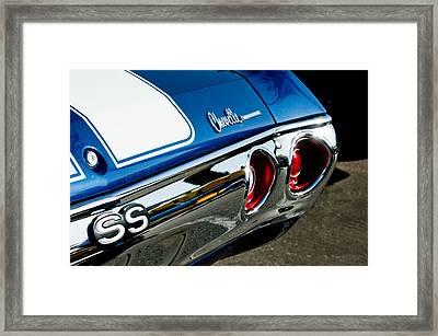 Chevrolet Chevelle Ss Taillight Emblem -0158c Framed Print by Jill Reger