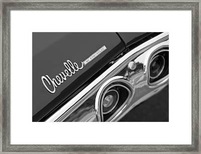 Chevrolet Chevelle Ss Taillight Emblem Framed Print by Jill Reger