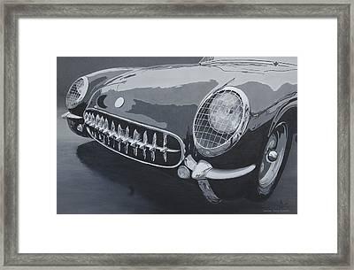 Chevrolet Corvette 1954 Framed Print by Anna Ruzsan