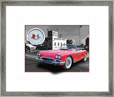 Chevrolet Corvette 1962 Framed Print by Dan Knowler